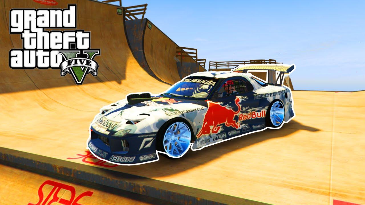 GTA-5-PC-Mods-MAD-MIKE-RX7-SUPERCAR-MOD-GTA-5-Car-Mod-Stunts-Gameplay ...