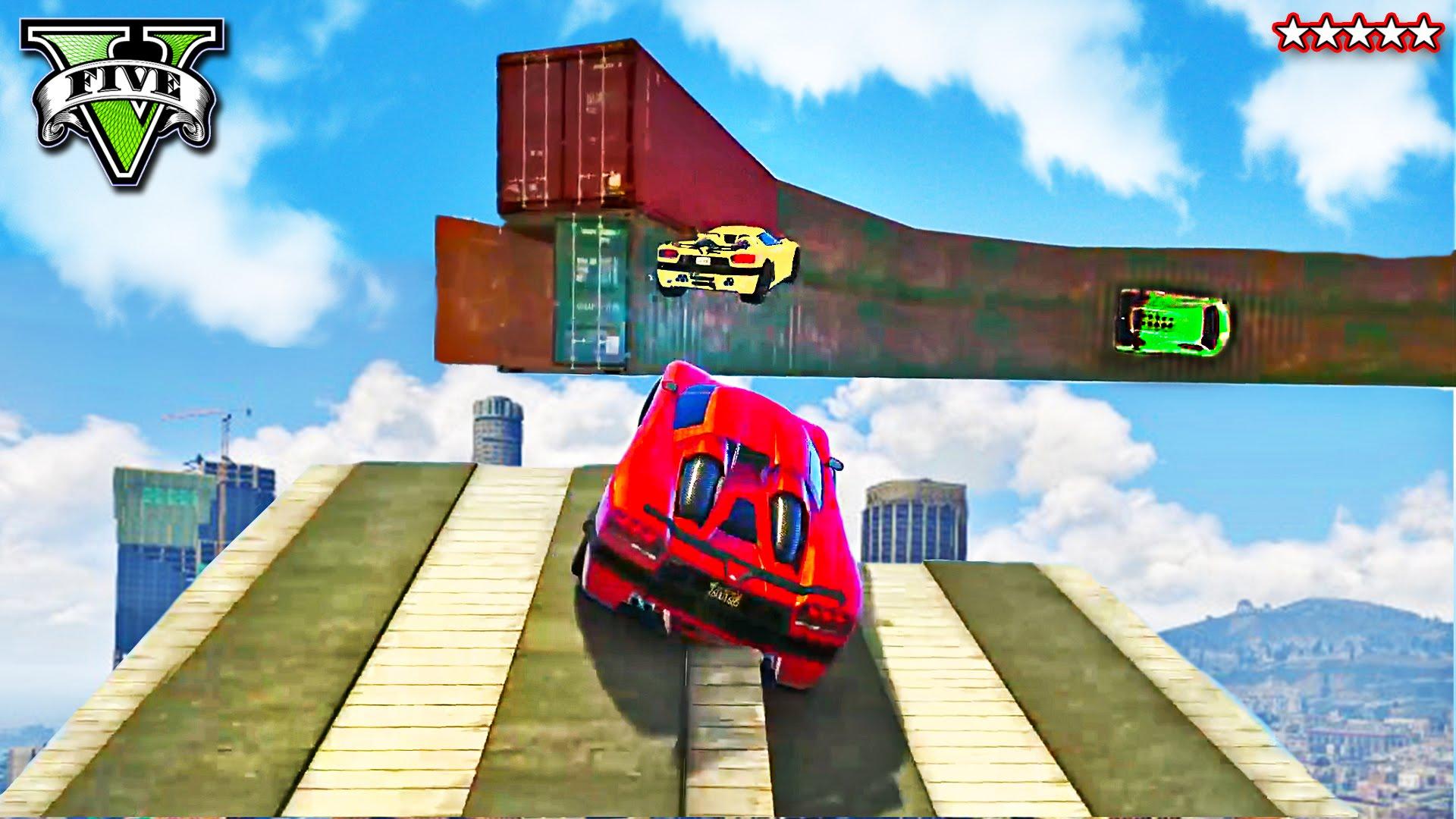 GTA 5 Stunt Races | WALLRIDE CIRCLE OF HELL! Extreme Daredevil Racing ...