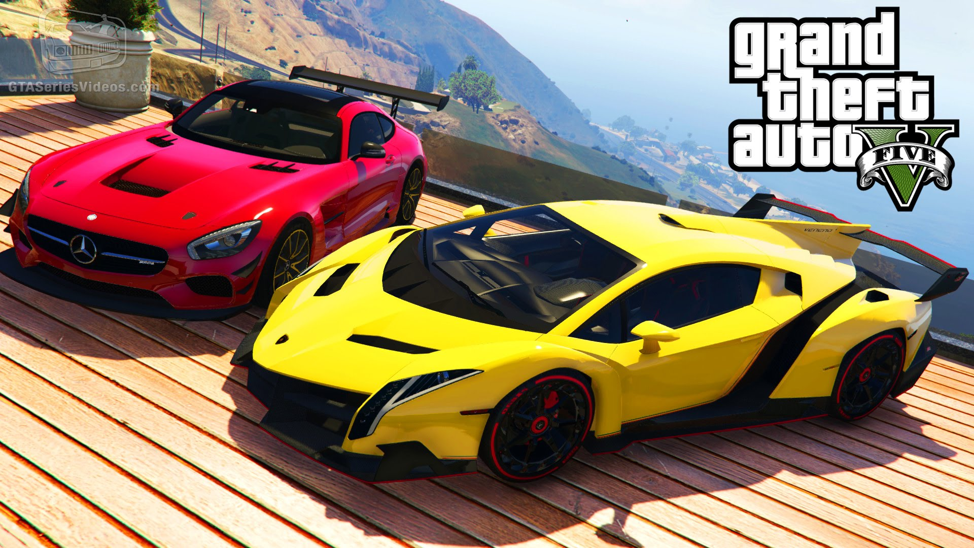 gta 5 car mods 5 lamborghini veneno bmw i8 mercedes benz amg gt and more gta junkies. Black Bedroom Furniture Sets. Home Design Ideas