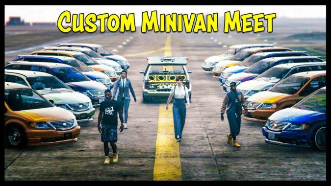 Gta 5 Online Custom Minivan Car Shows Live New Lowrider Dlc