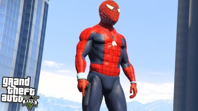 скачать мод для гта 5 spider man