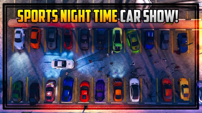 Gta 5 Online Sports Cars Car Show At Night Awesome Paint Jobs